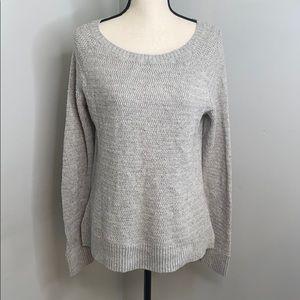 LOFT Ann Taylor grey crew neck sweater - large